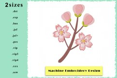 Cherry Blossom Machine Embroidery Design in 2 sizes Product Image 1
