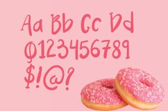 Pink Donuts - Hand drawn Cute Font Product Image 3