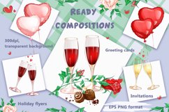 Valentine's Day. Vector clipart. Elements. Product Image 5