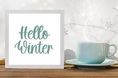 Hello Snowflake - a script winter font Product Image 2