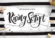 Rising Brush Script Product Image 1