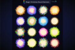 Magic Christmas Lights Vector Brushes Big Set Product Image 10