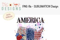 Sublimation US map animal print   red white and blue glitter Product Image 2
