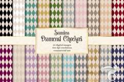 Diamond Checkers Patterns Digital Paper Product Image 1