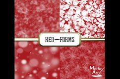 Red Forms - 10 Digital Papers/Backgrounds Product Image 2
