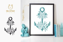 Anchor with Flowers SVG, Nautical Wedding Decor Cut File Product Image 6