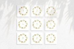 Watercolor wreaths with numbers. 31 days till Christmas Product Image 4