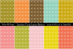 Seamless Circle Lattice Patterns Product Image 1
