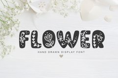 Flower Hand Drawn display Font Product Image 1