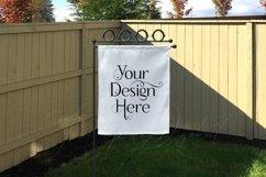 Yard Flag Mockups for Autumn, White & Burlap Flag Mock-Ups Product Image 4