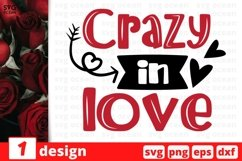 Crazy in Love SVG Cut File | Valentines Day Cricut Product Image 1