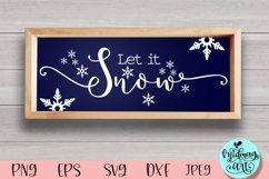 Let it snow wood sign svg, winter sign svg Product Image 1