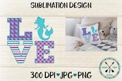 Mermaid Love Sublimation Design Product Image 1