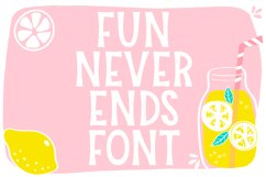 Fun Never Ends Font Product Image 1
