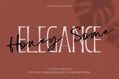 Honeysome Script Font Product Image 1