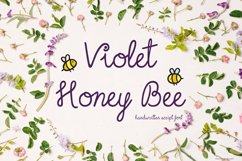 Violet Honey Bee Font | Handwritten | Multilingual Ligatures Product Image 1