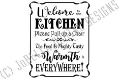 Welcome To Our Kitchen SVG and Printable Farmhouse Design Product Image 2