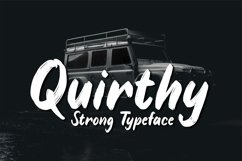 Quirthy - Strong Typeface Product Image 1