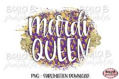 Mardi Gras Sublimation Design, Mardi Queen Sublimation Product Image 1