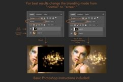 Gold bokeh overlays Product Image 9