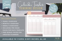 Canva Calendar Template for Printable Products Product Image 1
