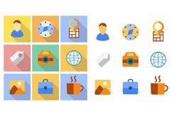 Flat icons set Product Image 1