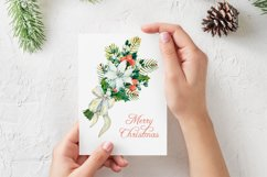 Watercolor Christmas arrangements. Winter flowers collection Product Image 4