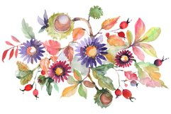 Autumn bouquet blossoming beauty Watercolor png Product Image 1