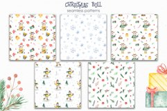Christmas bull Watercolor Clipart Product Image 11
