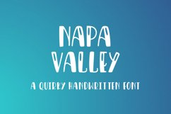 Napa Valley - a fun craft font Product Image 1