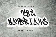Web Font The Notorious Font Product Image 1