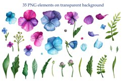 Bright Watercolor Pansies Product Image 2