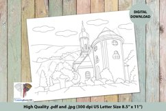 House Built in the Midst of Nature Intricate Coloring Page Product Image 1