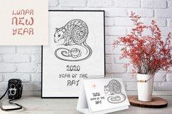 Rat SVG, Symbol of the year 2020, decorative animal clip art Product Image 4