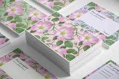 Pink Wild Rose PSD Business Card Template Product Image 4