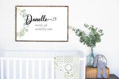 A Font Duo - LINEN - Thick Script paired with a serif Product Image 2
