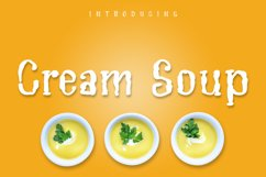 Cream Soup | Sauce Made Font Product Image 1
