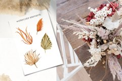 Savanna dried flowers and leaves Watercolor Product Image 11