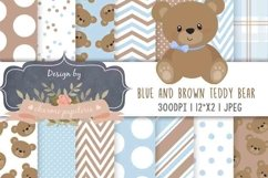 Teddy Bear Baby Boy Baby Shower, Teddy Bear Pink and Brown Product Image 1