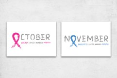 Cancer Awareness Month Ribbons   Posters   PNG SVG EPS JPG Product Image 5