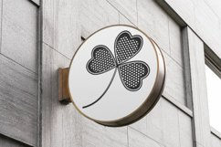 SVG clover with an ornament for Patrick's Day Product Image 5