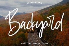 Web Font Backyard - Cool Calligraphy Font Product Image 1