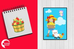 Farm animal clipart, graphics, illustrations AMB-1494 Product Image 5
