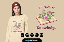 Flowers Growing from Book for T-Shirt Design Product Image 1