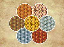 Sea Turtle and Seashells Fall Color Palette Seamless Pattern Product Image 4