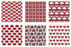 Valentine's Day seamless patterns Product Image 1