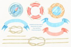 Nautical watercolor clipart collection Product Image 4