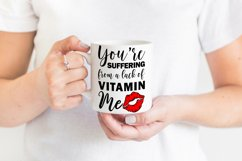 Funny Valentines Quote SVG Cut File | Red Lips SVG | Kiss Product Image 3