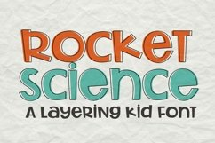Rocket Science Layering Font Product Image 2