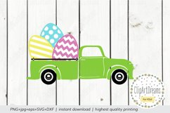 Easter egg truck Svg, Happy Easter truck Cut File Silhouette Product Image 2